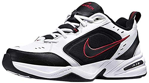 Nike Herren Air Monarch IV Fitnessschuhe, White Black Varsity Red, 45.5 EU