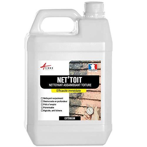 Nettoyant flash pour toiture tuile, béton, ardoise, terre cuite ACTION ULTRA RAPIDE - Transparent - 5 L - ARCANE INDUSTRIES
