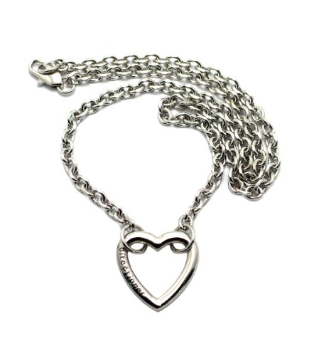 Directioner Fans Infinity Sign Pendant 18 Link Chain Necklace in Silver-Tone