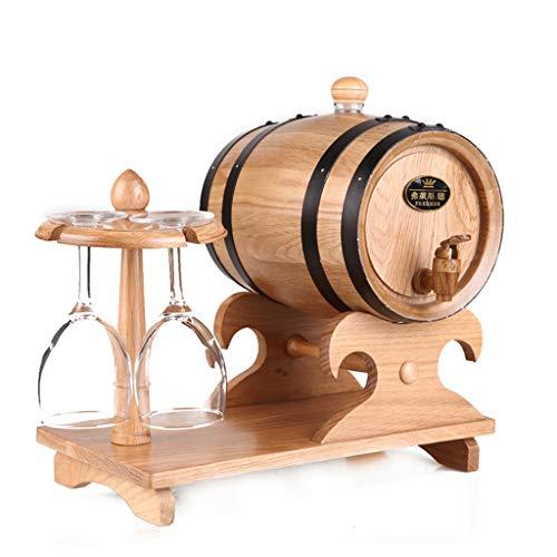 DOOST 5L eiken vaten, vintage hout eiken houten vaten met gouden stalen haken voor fijne wijnen, cognac, whisky, tequila