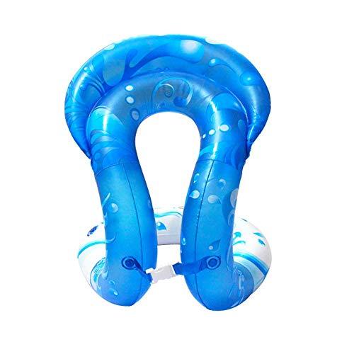 Schwimmwesten Schwimmhilfe - Schwimmweste zum Aufblasen für Kinder und Erwachsene | Schwimmtrainer, aufblasbar | 3 Größen? PVC Schwimmhilfen für Beach (Blau,L)
