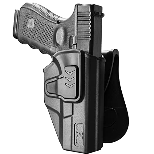 OWB Holster Compatible with Glock 19, Polymer Paddle Holster...