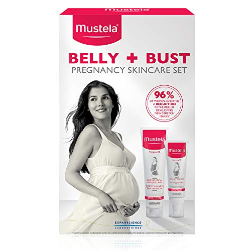 Mustela Belly & Bust Pregnancy Skincare Set, Stretch Marks Prevention Cream and Bust Firming...