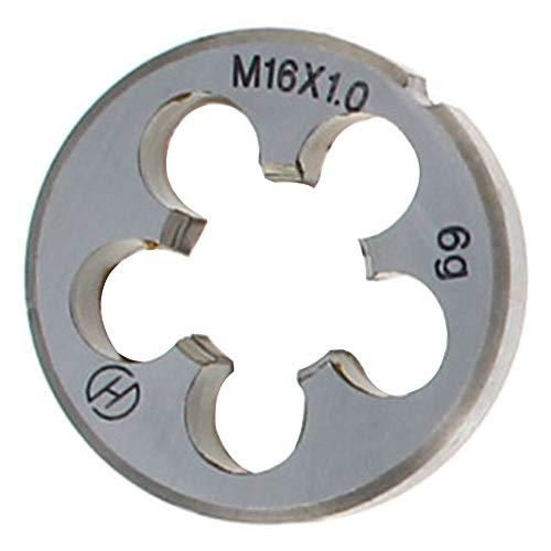 Utoolmart M16 X 1 Metric Round Die, Machine Thread Right Hand Threading Die, Alloy Steel 1Pcs