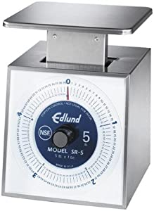 Edlund Company Stainless Steel Scale, 5-Pound by 1-Ounce