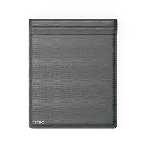 EDEC Faraday Tablet Tasche OffGrid Grau - Privatsphäre für Handy oder Handy & Schlüsselanhänger mit Hacking Kartenschutz EMF RFID-Abschirmung