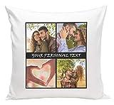 Personalisiertes FOTOGESCHENK mit 3 Fotos mit Collage (40 x 40 cm) Foto-Kissen mit Deinem Foto &...