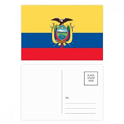 DIYthinker Ecuador NationalFlaggege Südamerika Land Postkartenset Geburtstag dankt Karte Mailing Side 20pcs 5.7 Zoll x 3.8 Zoll Mehrfarbig