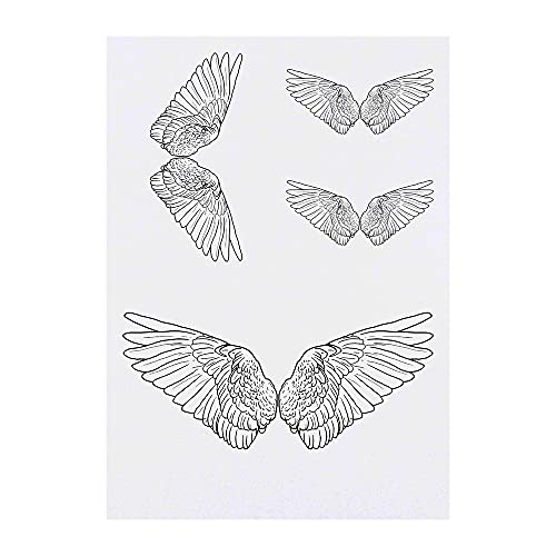 4 x 'Ailes d'Anges' Tatouages temporaires (TO00041533)