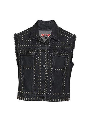 myMo ROCKS Jeansweste Damen 13007076 schwarz, S