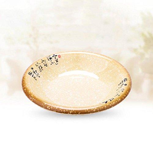 Liuyu Kitchen Home Biscuit à la poêle à base de porcelaine à base de porcelaine à l'imitation Biscuit à la soupe à grande cuvette aux poissons (taille : 28cm)