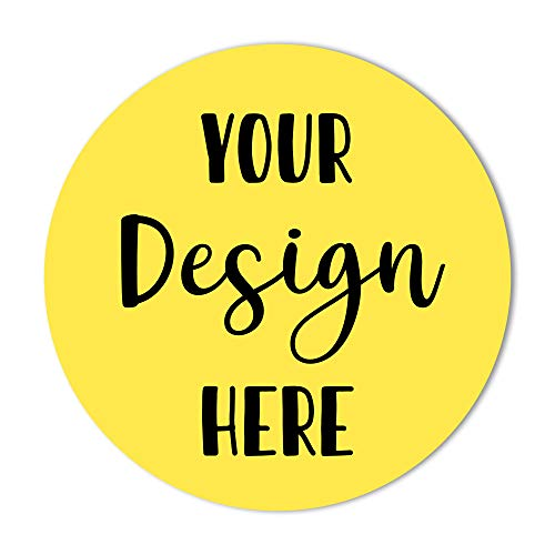 Custom Stickers Label Stickers - 120 Round Personalized Labels for Business Logo, Customized Sticker Label, Logo Stickers Circle (1.5 inch Round - Glossy)