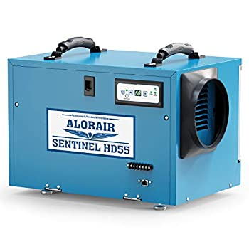 ALORAIR Commercial Dehumidifier 113 Pint with drain Hose for Crawl Spaces Basements Industry Water Damage Unit Compact Portable Auto Defrost Memory Starting 5 Years Warranty Sentinel HD55