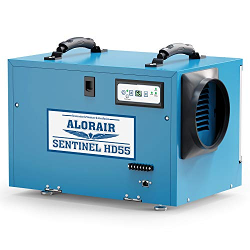 AlorAir Commercial Dehumidifier 113 Pint, with Drain Hose for Crawl Spaces, Basements, Industry...