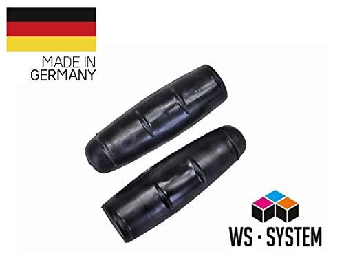WS · SYSTEM 2 Stück Universal Fahrradgriff Vintage | Lenker Griff | Gummi | 21 oder 22 mm | Schwarz | Griffe