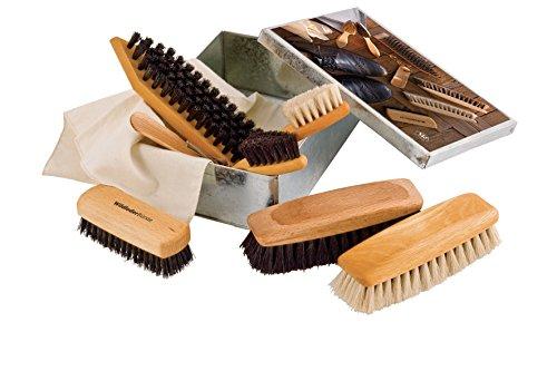 Redecker Redecker Luxury Shoe Shine Care Set In Metal Box