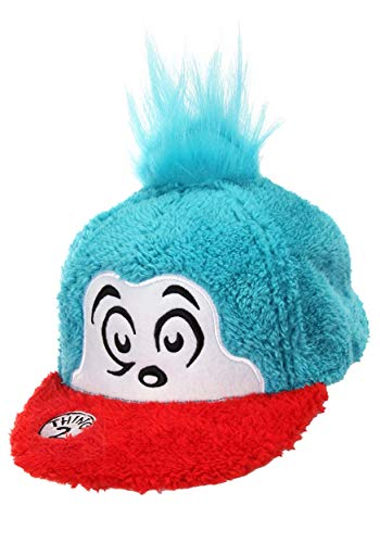 Dr. Seuss Thing 2 Costume Fuzzy Snapback Hat