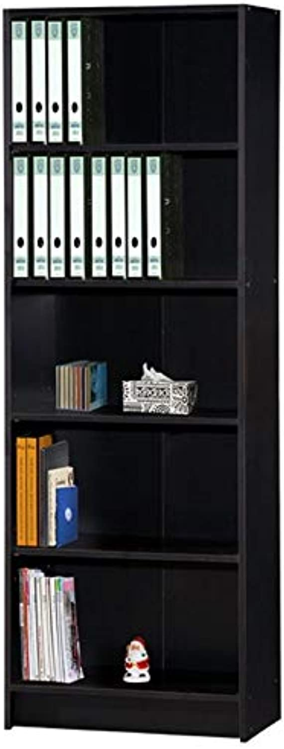 Pemberly Row 5 Shelf Bookcase in Black
