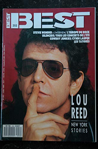 BEST 252 JUILLET 1989 LOU REED Stevie Wonder SILENCERS Cowboy Junkies Cyndi LAUPER Les TATOUES