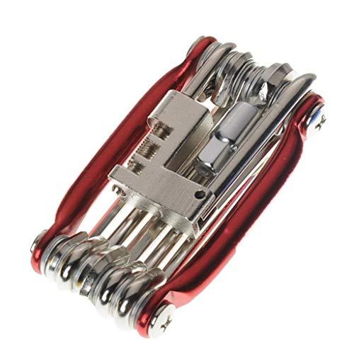 Portable 11 en 1 Multi-Fonctions Outil vélo Kit, VTT Repair Tool Set, Peut être utilisé pour la Maison ou Atelier de réparation de Voitures