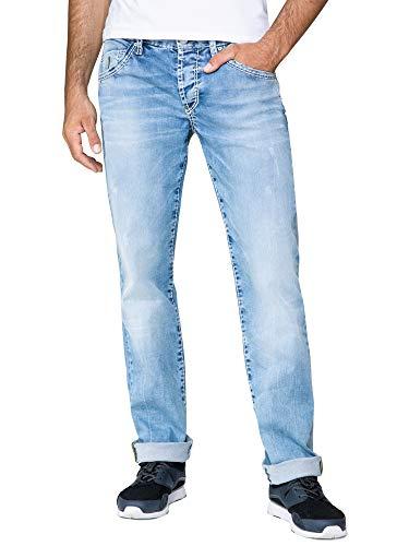 Camp David Herren Jeans RO:BI mit Used-Optik und Knopfverschluss