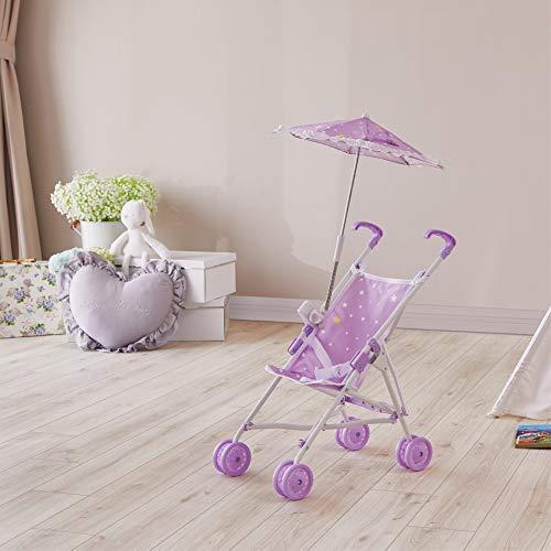 Olivia's Little World Klassisch Kinderwagen-Puppenwagen & Sonnenschirm Lila OL-00005