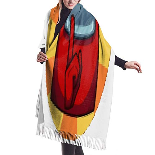 Vcxbsdvbd Among Us Shhh Symbolfashion Cashmere Big Shawl Winter Thick Warm Scarf Wrap Shawl 77'X 27