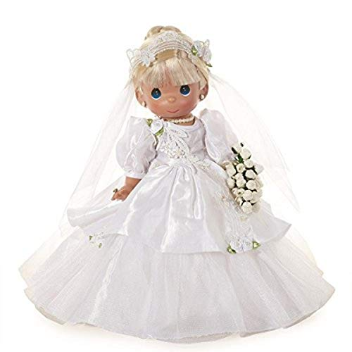 Precious Moments Dolls by The Doll Maker, Linda Rick, I Do, Bride, Blonde, 12 inch Doll