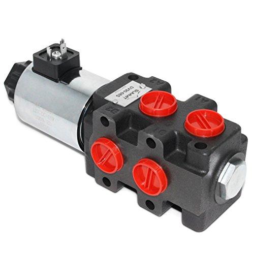 Hydraulic Solenoid Selector/Diverter Valve, 24 GPM, 12v DC