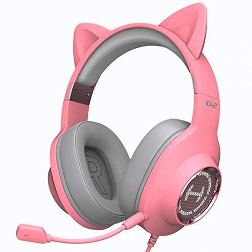 Fone de Ouvido Headset Gamer 7.1 Over-Ear EDIFIER G2 II Pink Cat