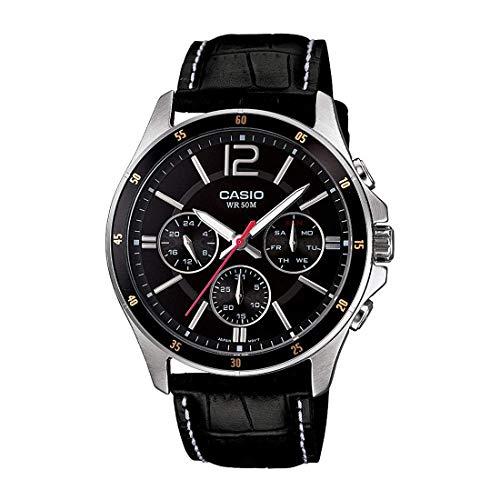 Casio Enticer Chronograph Black Dial Men's Watch - MTP-1374L-1AVDF (A834)