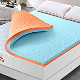 Maxzzz 3 Inch Mattress Topper Full, Gel Memory Foam Mattress Topper & Copper Foam Topper Dual Side Ventilated Design Cooling Bed Topper for Pressure Relieving, CertiPUR-US Certified