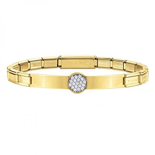 Nomination Damen-Armband Trendsetter Edelstahl Zirkonia weiß Brillantschliff 18 cm - 021121/021