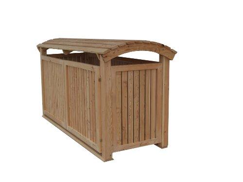 Massive Mülltonnenbox Holz, Modell Mailo, für zwei 240 Liter Mülltonnen