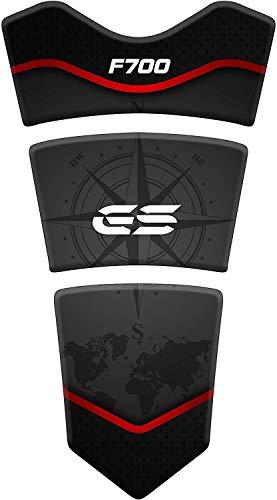 Tankpad Motorrad Draht Muster Tankschutz Polymer für BM.W F 700 GS Nach 2015 F700 Schwarz
