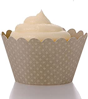 Dress My Cupcake Standard Gray Cupcake Wrappers, Set of 50