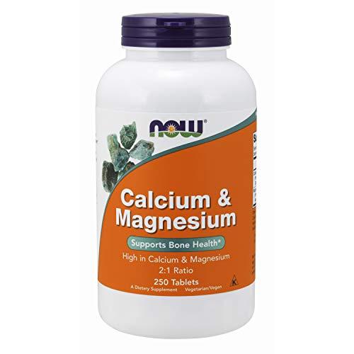 Now Foods Calcium & Magnesium - 250 Tablets - 250 Tabletas