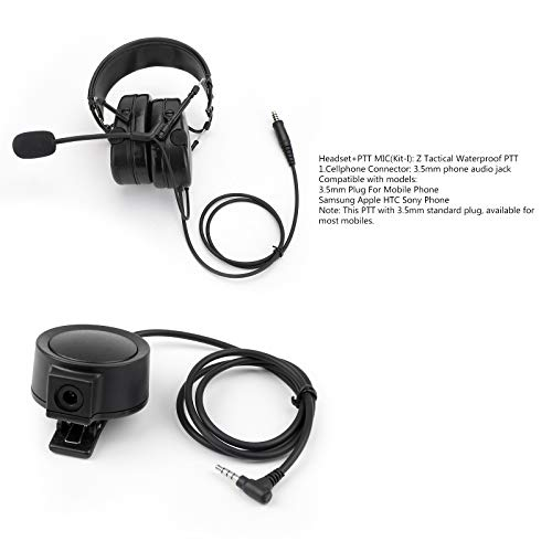 Review Of Areyourshop H80 Tactical Noise Canceling 7.1mm Plug Headset + Z Tactical Waterproof PTT