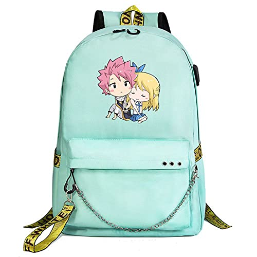 XIAOFUPO Anime Unisex Multifunktionaler Rucksack Schulrucksack Cartoon Casual Rucksack Book Bags FAIRY TAIL Oxford cloth USB Charging Port