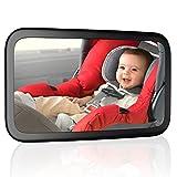 CCAUTOVIE Miroir Bébé Voiture Siège Arrière Miroir Auto Bébé Rétroviseur de Surveillance Enfant Sécurité Réglable Rotation 360° Noir