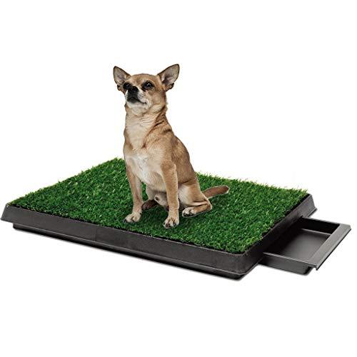 LT Indoor Huisdier Toilet Trainingspad met Verwijderbare Afval Lade Gras Mat Puppy Wastafel Potty 64X51X6.4CM