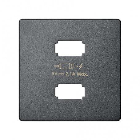 Placa cargador 2xUSB 5Vdc 2.1 tipo A marca SIMON