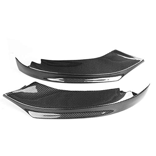 HIGHER MEN 2 stücke Real Carbon Fiber Auto Front Stoßfänger Splitter Lip Diffuser Spoiler für BMW 4-Serie F32 F33 F36 428i 435i M-Sport 2014-2019 Auto Zubehör