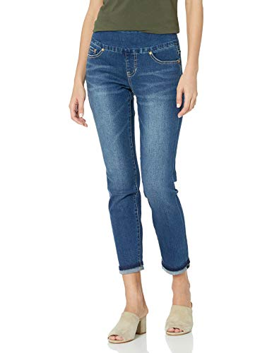 Jag Jeans Women's Amelia Pull On Slim Fit Ankle Jean, Kodiak Blue, 12