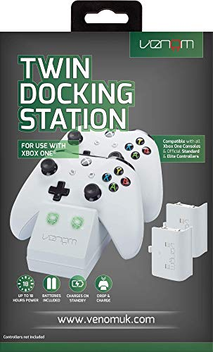 Venom 293752 Twin Docking Station For Xbox One, White (Xbox One)