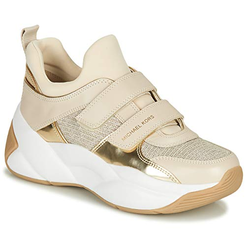 MICHAEL MICHAEL KORS KEELEY Sneakers dames Beige/Goud Lage sneakers