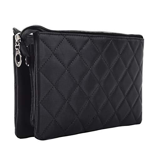 Handtaschenorganizer - Klatsch Tasche - Stabiler Taschenorganizer mit verstärkten Innenwänden - Handtaschen Organizer mit 6 Innentaschen und 3 Reißverschlüssen - Organizer Tasche - Bag in Bag