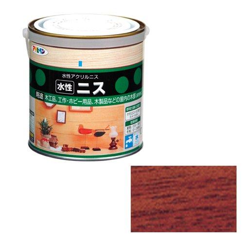 アサヒペン 水性ニス マホガニー 缶0.7l