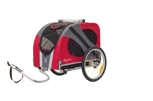 DoggyRide Novel Dog Bike Trailer, Urban Red