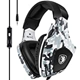 Xbox One Gaming Headset, SADES Stereo PC Gaming Headset with Mic, Noise Cancelling Over Ear Gaming Headphones with Soft Memory Earmuffs for Xbox one / PS4/ Laptop/Mac